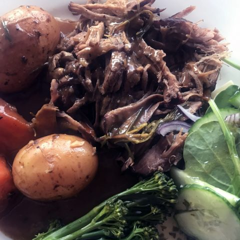 Slow Cooker Pull Apart Roast Beef
